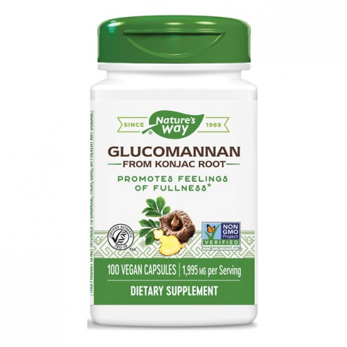 Nature's Way Glucomannan / Картофена палма 665 мг. 100 вегетариански капсули