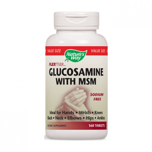 Nature's Way Glucosamine with MSM / Глюкозамин сулфат и MСM 875 мг. 160 таблетки