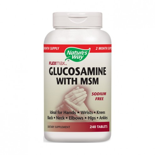Nature's Way Glucosamine with MSM / Глюкозамин и MСM 875 мг. 240 таблетки