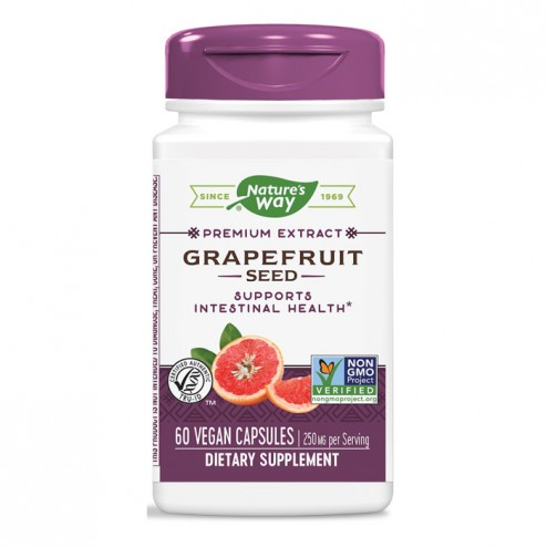 Nature's Way Grapefruit Seed / Семена от грейпфрут 250 мг. 60 вегетариански капсули