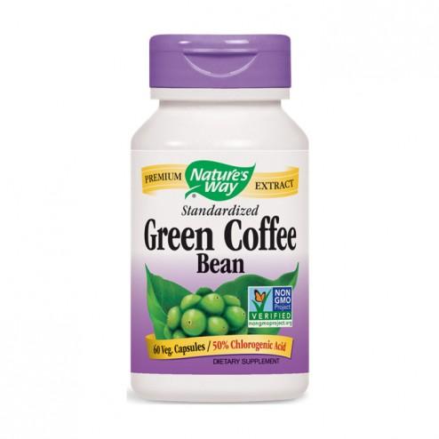 Nature's Way Green Coffee Bean/ Зърна от зелено кафе 500 мг. 60 вегетариански капсули
