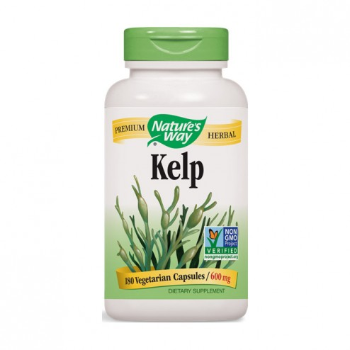 Nature's Way Kelp / Келп/Кафяви водорасли 600 мг. 180 вегетариански капсули