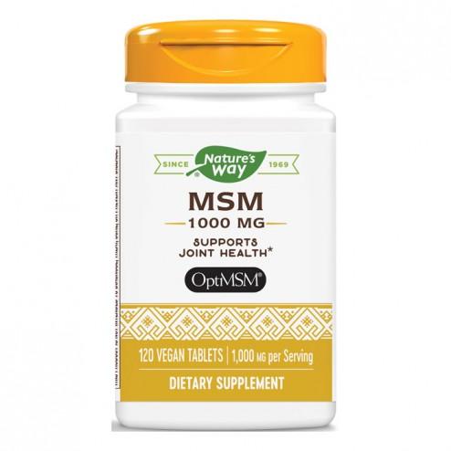 Nature's Way MSM / Метилсулфонилметан (МСМ) 1000 мг. 120 таблетки