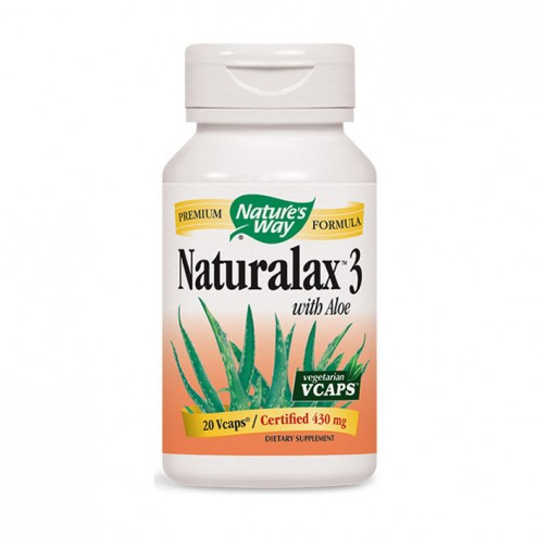 Nature's Way Naturalax 3 / Натуралакс 3 430 мг. 20 вегетариански капсули