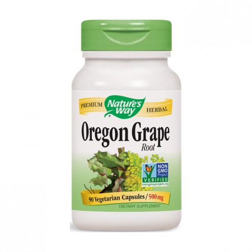 Nature's Way Oregon Grape / Орегонско грозде 500 мг. 90 вегетариански капсули