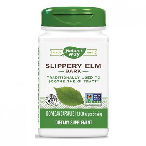 Nature's Way Slippery Elm / Червен бряст 400 мг. 100 вегетариански капсули