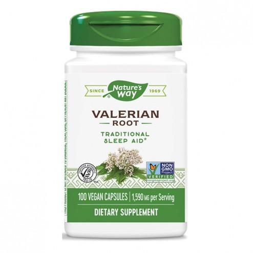 Nature's Way Valerian / Валериана (корен) 530 мг. 100 вегетариански капсули