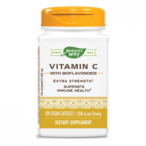 Nature's Way Vitamin C & Bioflavonoids / Витамин С и биофлавоноиди 500 мг. 100 капсули