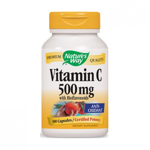 Nature's Way Vitamin C & Bioflavonoids / Витамин С и биофлавони 500 мг. 100 капсули