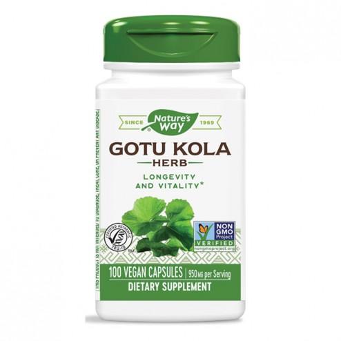 Nature's Way Gotu Kolа / Готу кола 475 мг. 100 вегетариански капсули