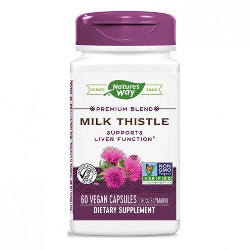 Nature's Way Milk Thistle / Млечен бодил 295 мг. 60 вегетариански капсули