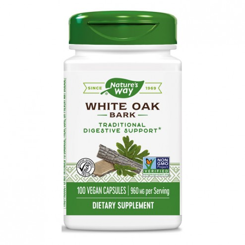 Nature's Way White Oak / Бял дъб (кора) 480 мг. 100 вегетариански капсули
