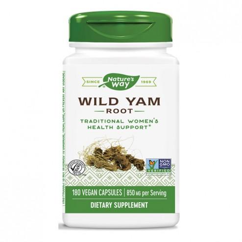 Nature's Way Wild Yam / Див ям / Сладък картоф (корен) 425 мг. 100 вегетариански капсули