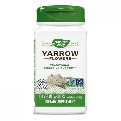Nature's Way Yarrow / Бял равнец (цвят) 325 мг. 100 вегетариански капсули