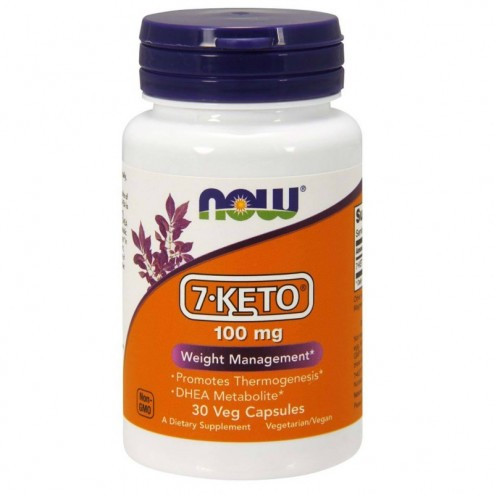 NOW Foods 7-KETO 100 мг. 30 вегетариански капсули