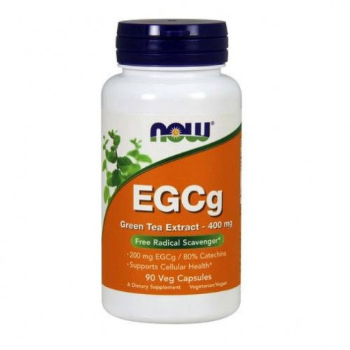 NOW Foods EGCG Green Tea Extract / Зелен чай с епигалокатехин галат 400 мг. 90 вегетариански капсули