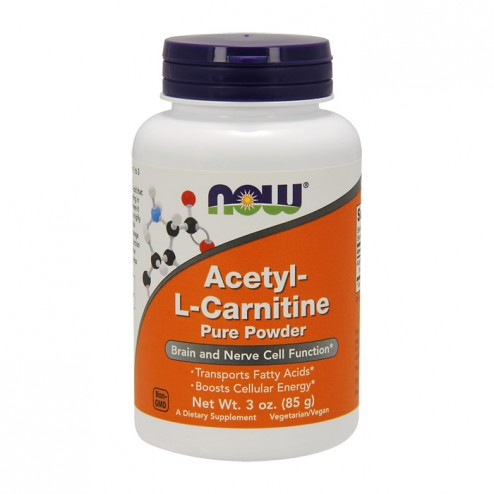 NOW Foods Acetyl L-Carnitine Powder / Ацетил L-карнитин пудра 635 мг. 85 гр.