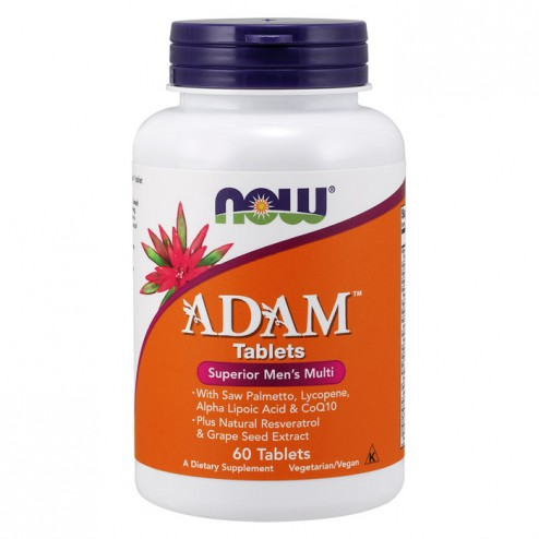 NOW Foods ADAM Men`s Vitamins 60 таблетки