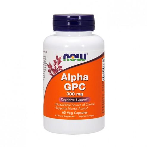 NOW Foods Alpha GPC / Алфа-Глицерилфосфорилхолин 300 мг. 60 капсули