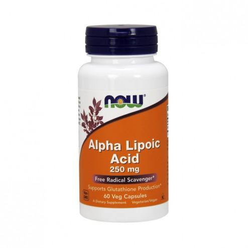 NOW Foods Alpha Lipoic Acid / Алфа-липоева киселина 250 мг. 60 вегетариански капсули