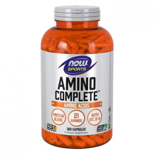 NOW Foods Amino Complete 850 мг. 360 капсули