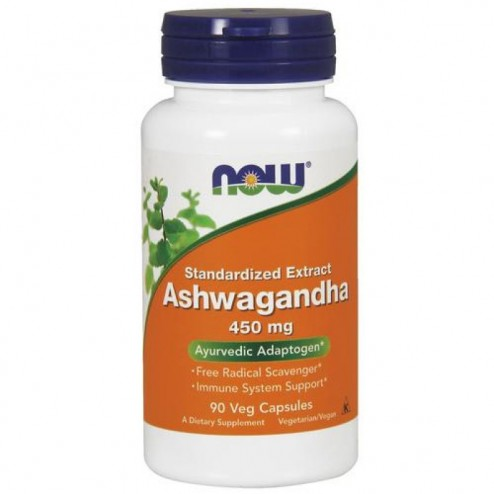 NOW Foods Ashwagandha Extract / Ашваганда 450 мг. 90 вегетариански капсули