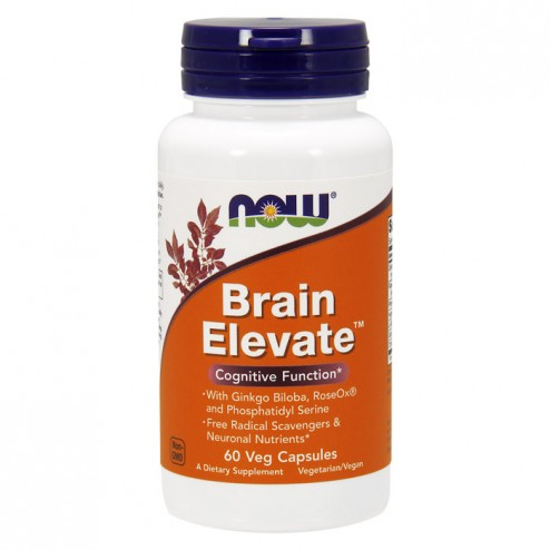NOW Foods Brain Elevate 60 вегетариански капсули