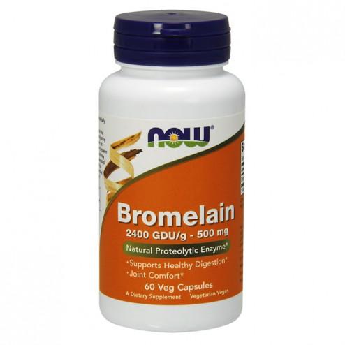 NOW Foods Bromelain / Бромелаин 500 мг. 60 вегетариански таблетки