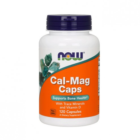 NOW Foods CAL-MAG / Калций и магнезий с витамин D 500/250 мг. 120 капсули