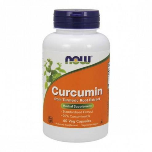 NOW Foods Curcumin / Куркумин 665 мг. 60 вегетариански капсули