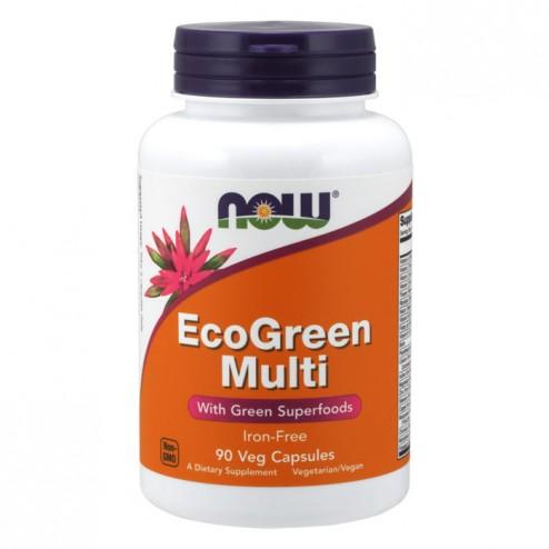 NOW Foods Eco Green Multi 90 вегетариански капсули