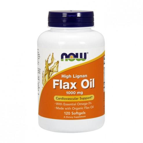 NOW Foods Flax Oil High Lignan / Масло от ленено семе с висока концентрация на лигнани 1000 мг. 120 дражета