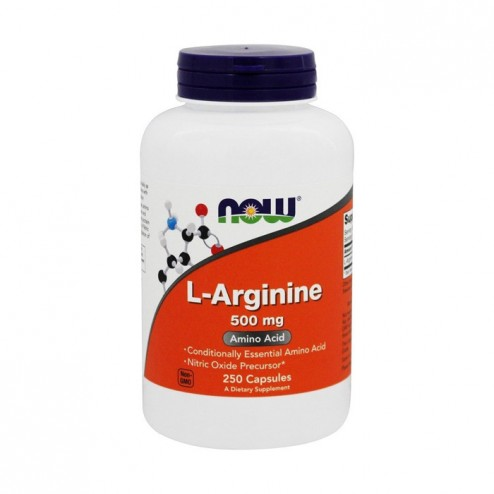 NOW Foods L-Arginine 500 мг. 250 капсули