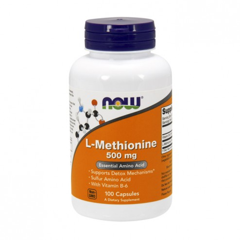 NOW Foods L-Methionine 500 мг. 100 капсули