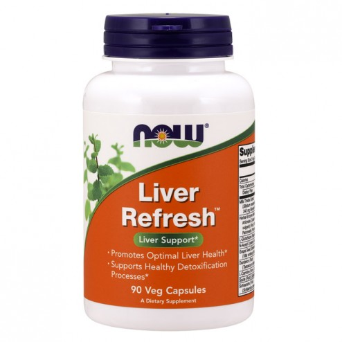 NOW Foods Liver Refresh (Detoxifier & Regenerator) 90 капсули (30 дози)