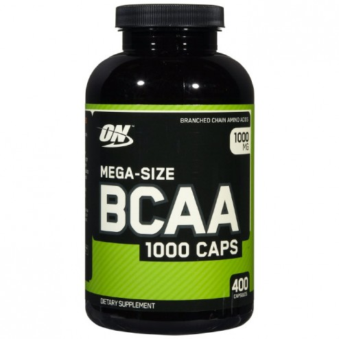 Optimum Nutrition BCAA Mega-Size 1000 400 капсули (200 дози)