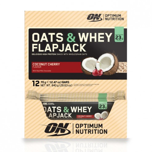 Optimum Nutrition Oats and Whey Flapjack кутия 12 х 70 гр.