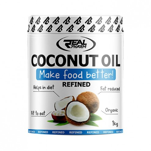 Real Pharm Coconut Oil Refined / Кокосово масло (рафинирано) 1000 мл. (100 дози)