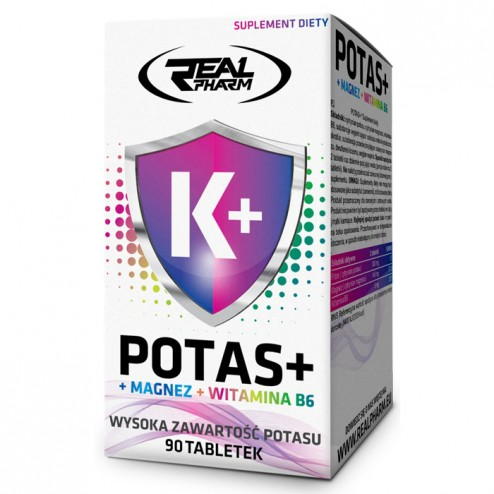 Real Pharm Potas + Mag + B6 / Калий + Магнезий + Витамин В6 90 таблетки (45 дози)