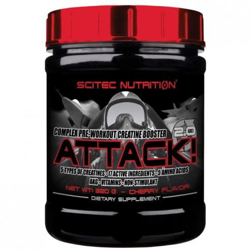 Scitec Nutrition Attack 2.0 320 гр.