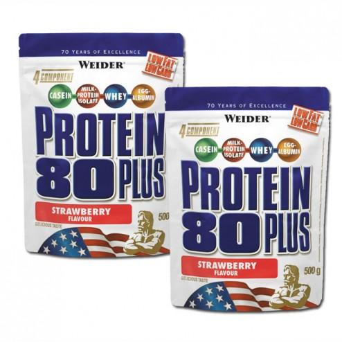 СТАК - Weider Protein 80 Plus 500 гр. 2 броя