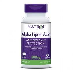 Natrol Alpha Lipoic Acid Time Release 600 мг. 45 таблетки