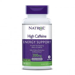 Natrol High Caffeine 200 мг. 100 таблетки