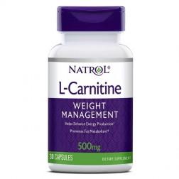 Natrol L-Carnitine 500 мг. 30 капсули