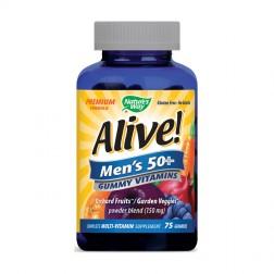 Nature's Way Аlive! Men's 50+ / Мултивитамини за мъже над 50 години 94 мг. 75 желирани дражета