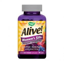 Nature's Way Аlive! Women's 50+ / Мултивитамини за жени над 50 години 131 мг. 75 желирани дражета