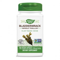 Nature's Way Bladderwrack / Кафяви водорасли фукус 580 мг. 100 вегетариански капсули