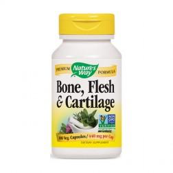 Nature's Way Bone, Flesh & Cartilage / Кости, тъкани и хрущяли 480 мг. 100 вегетариански капсули