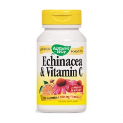 Nature's Way Echinacea & Vitamin C / Ехинацея и витамин С 461 мг. 100 капсули