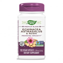 Nature's Way Echinacea Astragalus / Ехинацея, Астрагал и Рейши 400 мг. 100 вегетариански капсули
